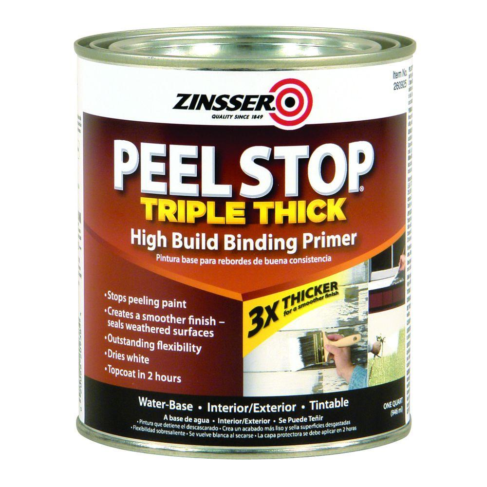 Zinsser Peel Stop 1 qt. White Triple Thick Interior/Exterior High Build Binding Primer