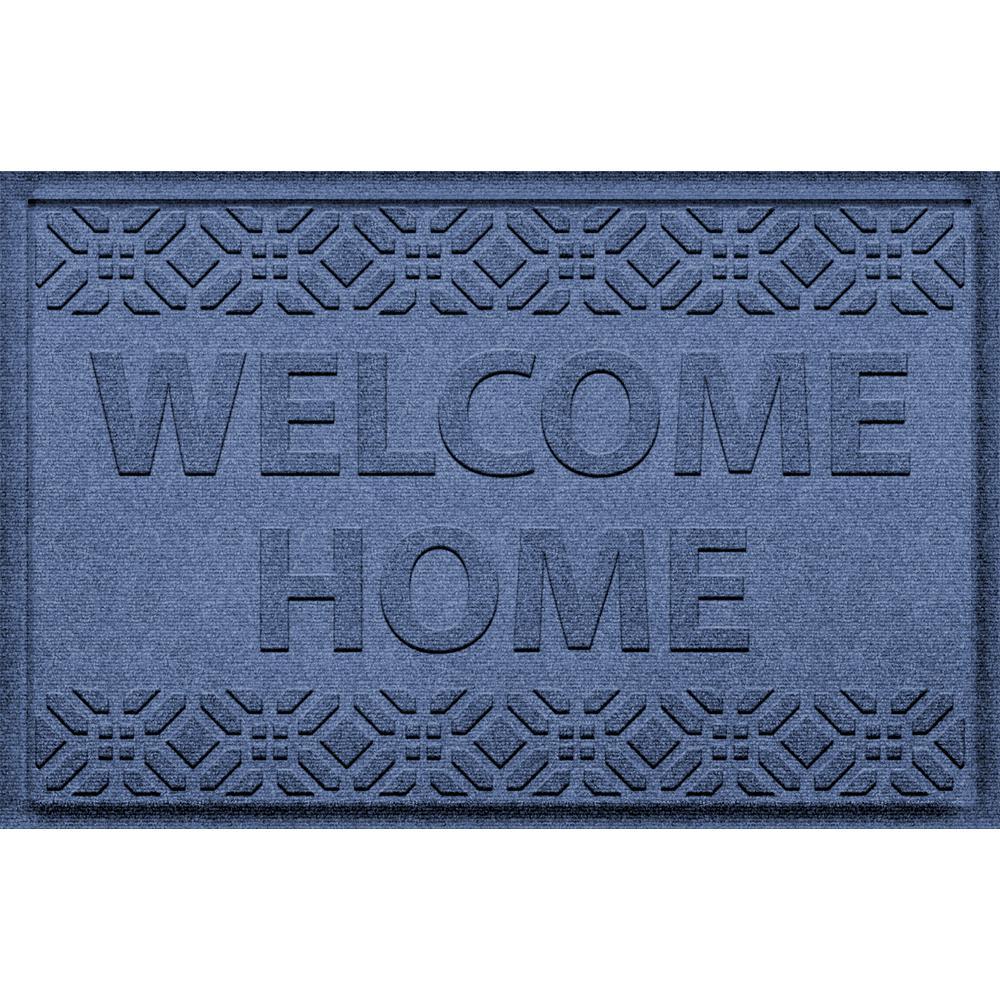 Welcome Home Navy 24 in. x 36 in. Polypropylene Door Mat