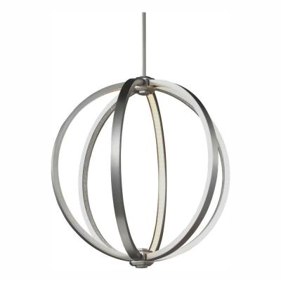 Khloe 24-Watt Satin Nickel Integrated LED Pendant