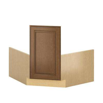 Madison Ready to Assemble 36x34.5x36 in. Corner Sink Base Cabinet in Cognac