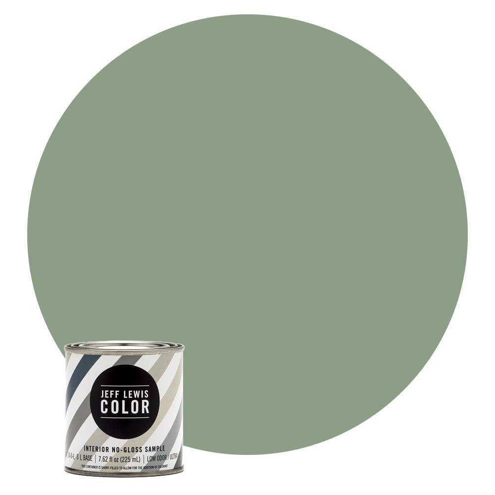 Jeff Lewis Color 8 oz. #JLC510 Dirty Martini No-Gloss Ultra-Low VOC Interior Paint Sample