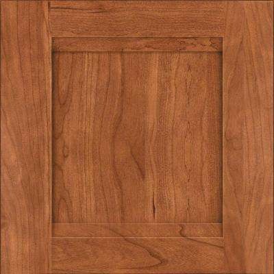 15x15 in. Cabinet Door Sample in Sonora Cherry in Cinnamon