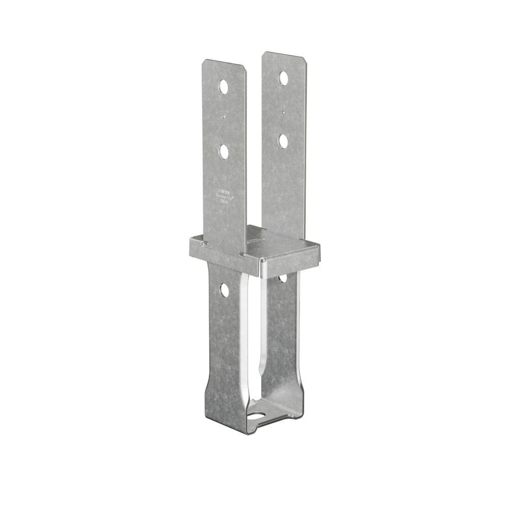 4 in. x 6 in. 10-Gauge Standoff Column Base