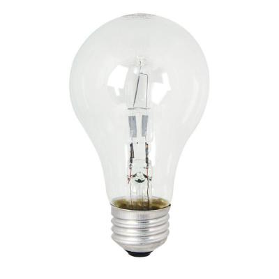 72-Watt Equivalent Warm White (3000K) A19 Dimmable Energy Saver Halogen Clear Light Bulb (48-Pack)