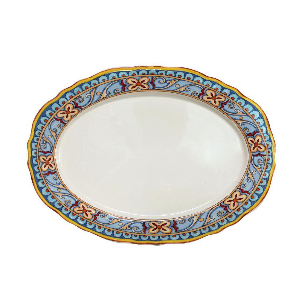 Euro Ceramica Duomo Oval Platter