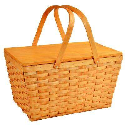 Traditional American Style Family Size Lined Basket