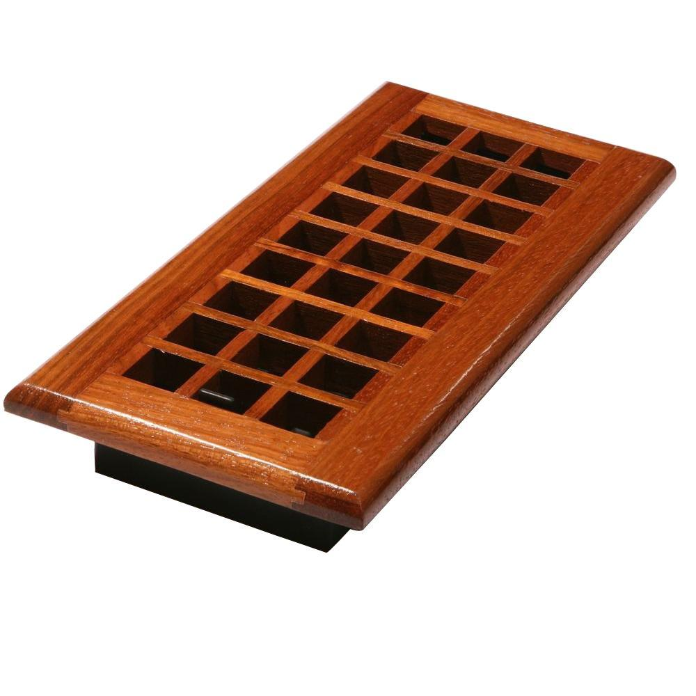 Decor Grates 2 in. x 12 in. Natural Cherry Lattice Register