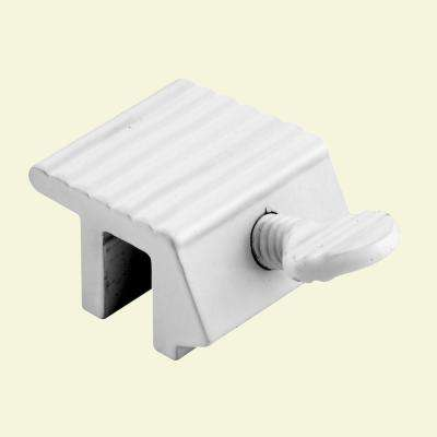 Sliding Window Lock, 1/4 in., Extruded Aluminum, White Painted Finish (2-pack)