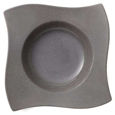 New Wave Gray Stone Porcelain Pasta Plate
