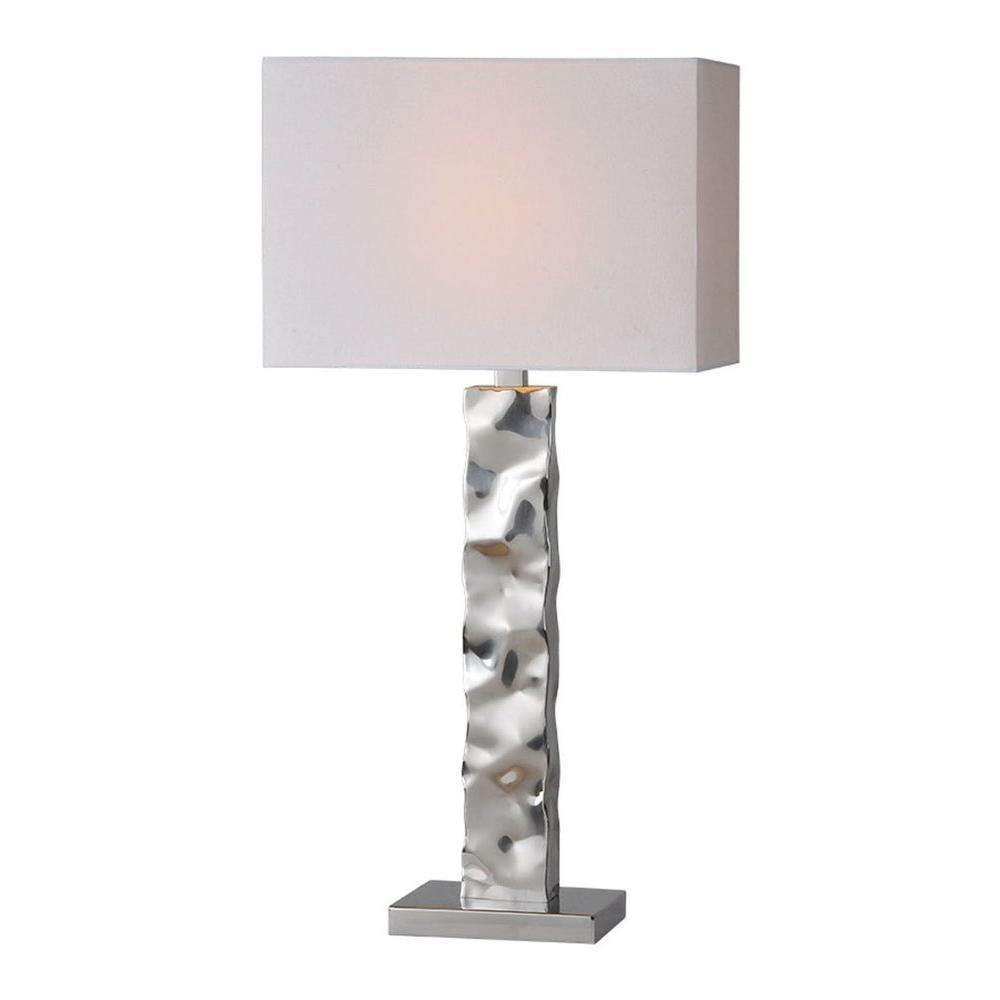 Illumine Luna 29 in. Chrome Incandescent Table Lamp