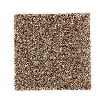 Carpet Sample - Sachet II - Color Squirrel Nest Texture 8 in. x 8 in.