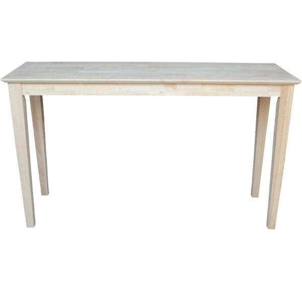 Shaker 48 in. Unfinished Standard Rectangle Wood Console Table