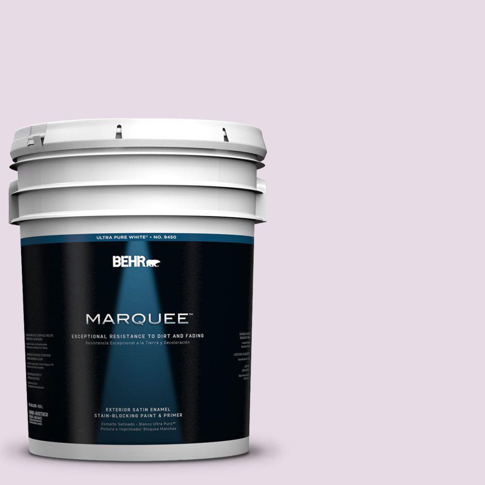 BEHR MARQUEE 5-gal. #680E-2 Iced Mauve Satin Enamel Exterior Paint
