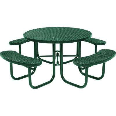 Park 46 In Green Commercial Round Picnic Table