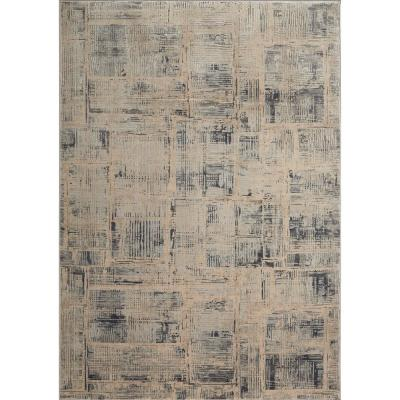 Kenmare Makenna Gray/Beige 5 ft. 3 in. x 7 ft. 2 in. Indoor Area Rug