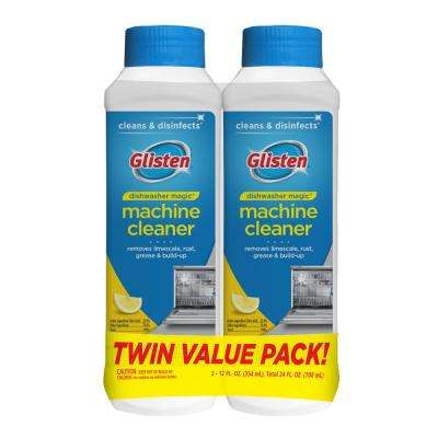 Glisten 12 oz. Cleaner and Disinfectant Dishwasher Detergent, 2-Pack