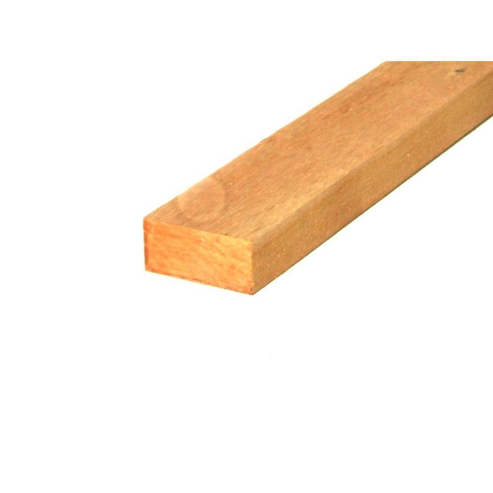 2 in  x 4 in  x 16 ft  Western Red Cedar Board