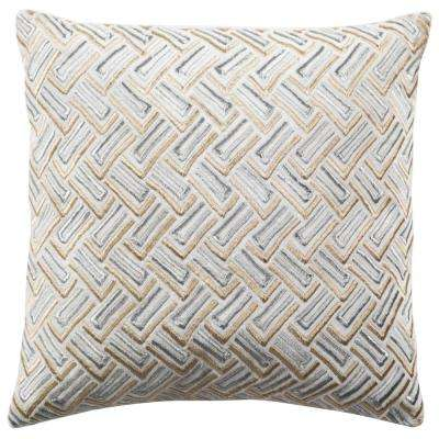 Grey/Gold Metallic Pillow