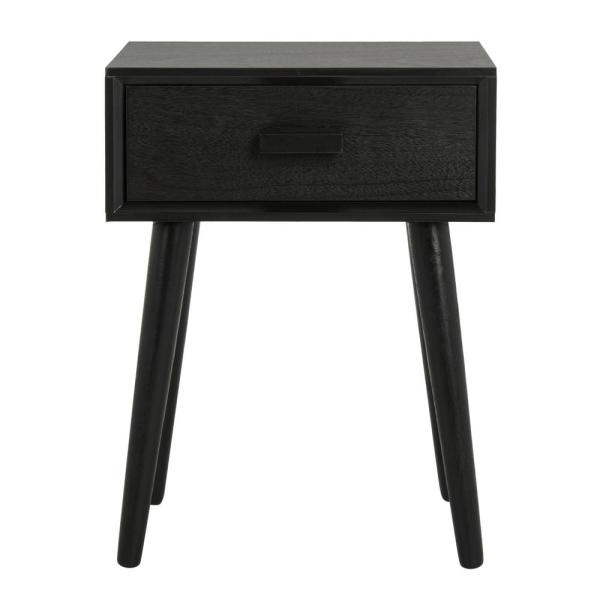 Lyle Black Storage Side Table