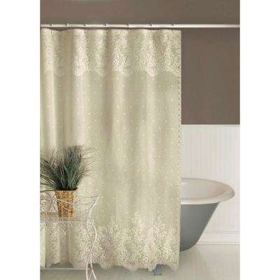 Floret 72 in. Ecru Shower Curtain