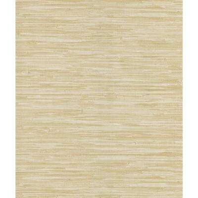 Madagascar Beige Faux Grasscloth Wallpaper Sample