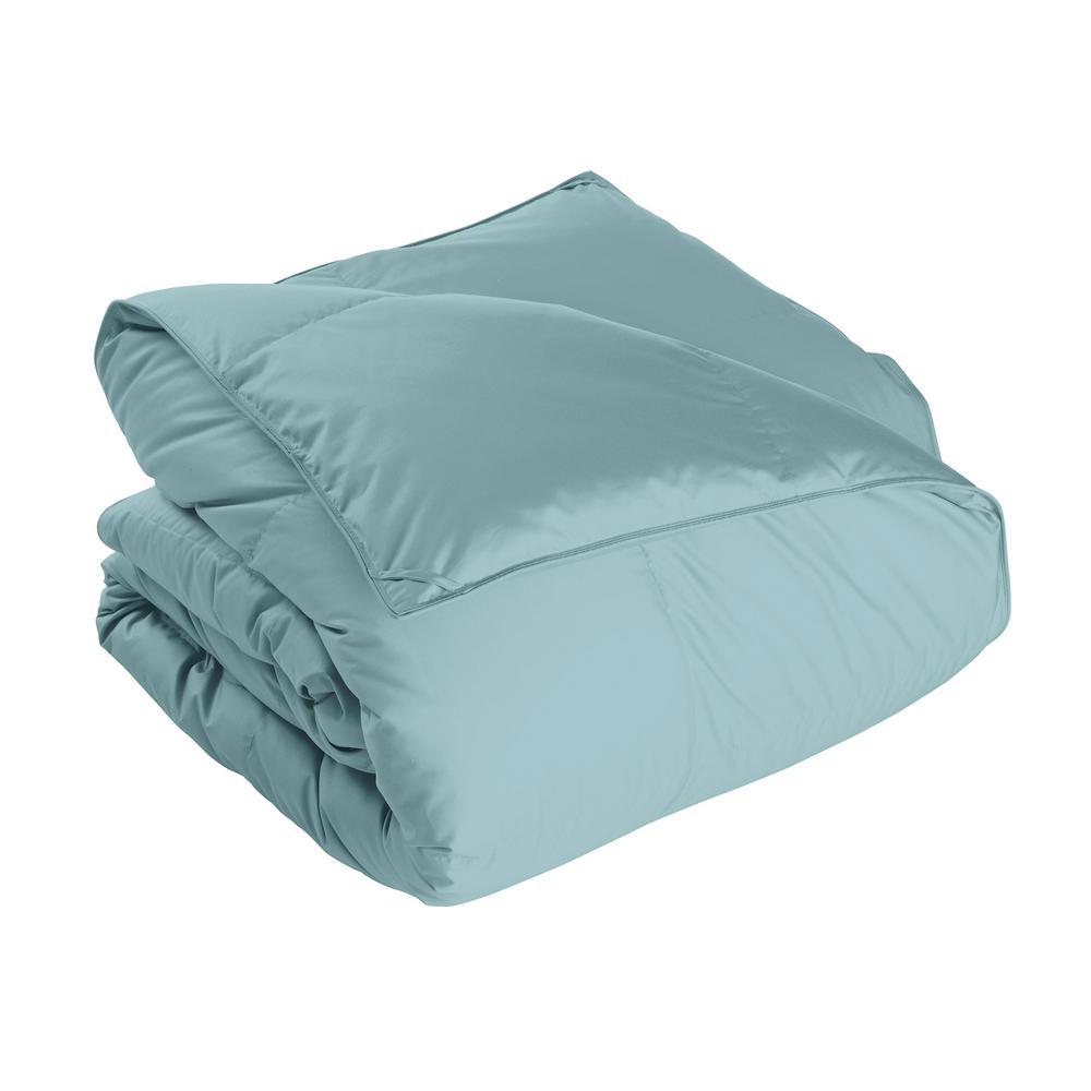 Alberta Light Warmth Cloud Blue King Euro Down Comforter
