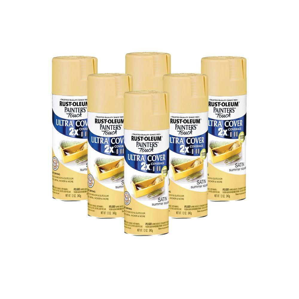 Painter's Touch 12 oz. Summer Squash Spray Paint (6-Pack)-DISCONTINUED