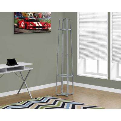 Silver 12-Hook Coat Rack