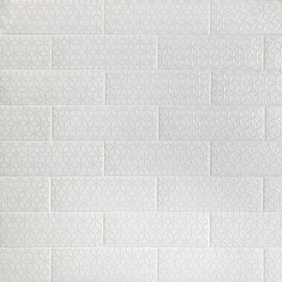 Barnet Spring White 3 in. x 9 in. x 10mm Matte Ceramic Subway Wall Tile (30 pieces / 5.16 sq. ft. / box)