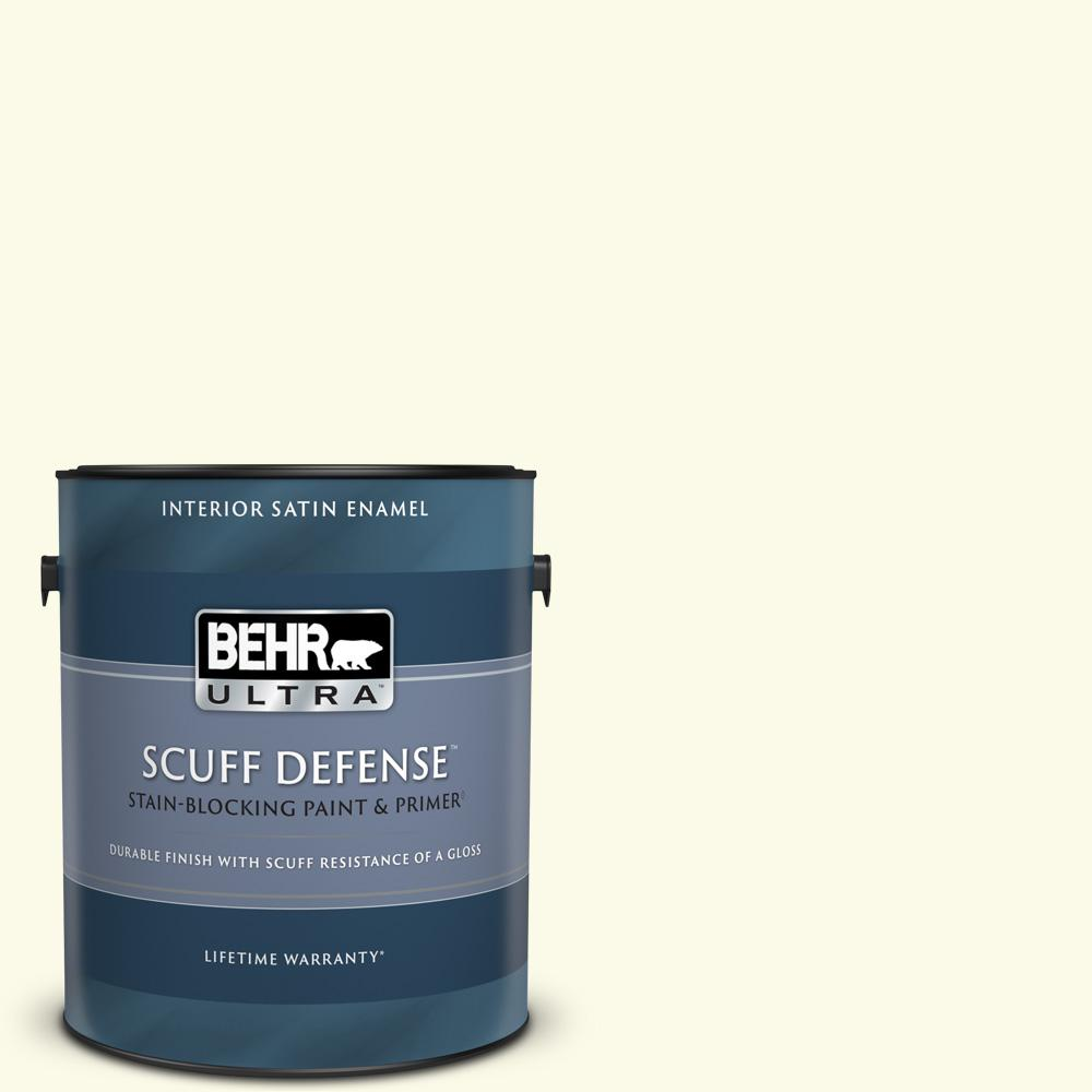 Behr Ultra 1 Gal Bxc 86 Elderflower Extra Durable Satin Enamel Interior Paint And Primer In One 775001 The Home Depot