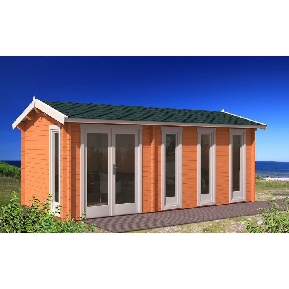 Ez Log Structures Nice 237 In X 118 In X 104 In Log Garden House