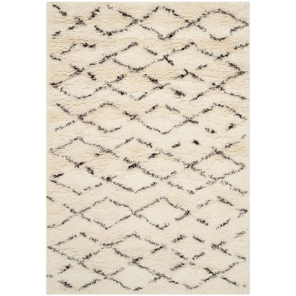 White Wool Shag Rug On Safavieh Casablanca Shag Whitebrown Ft Area Rug Rugcsb847a