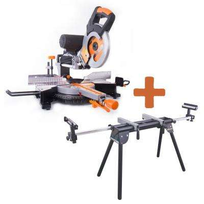 15 Amp 10 in. Multipurpose Double Bevel Sliding Miter Saw with Miter Stand