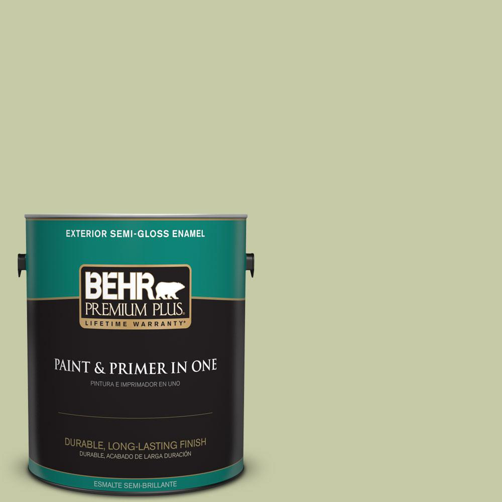 1-gal. #M350-3 Sap Green Semi-Gloss Enamel Exterior Paint