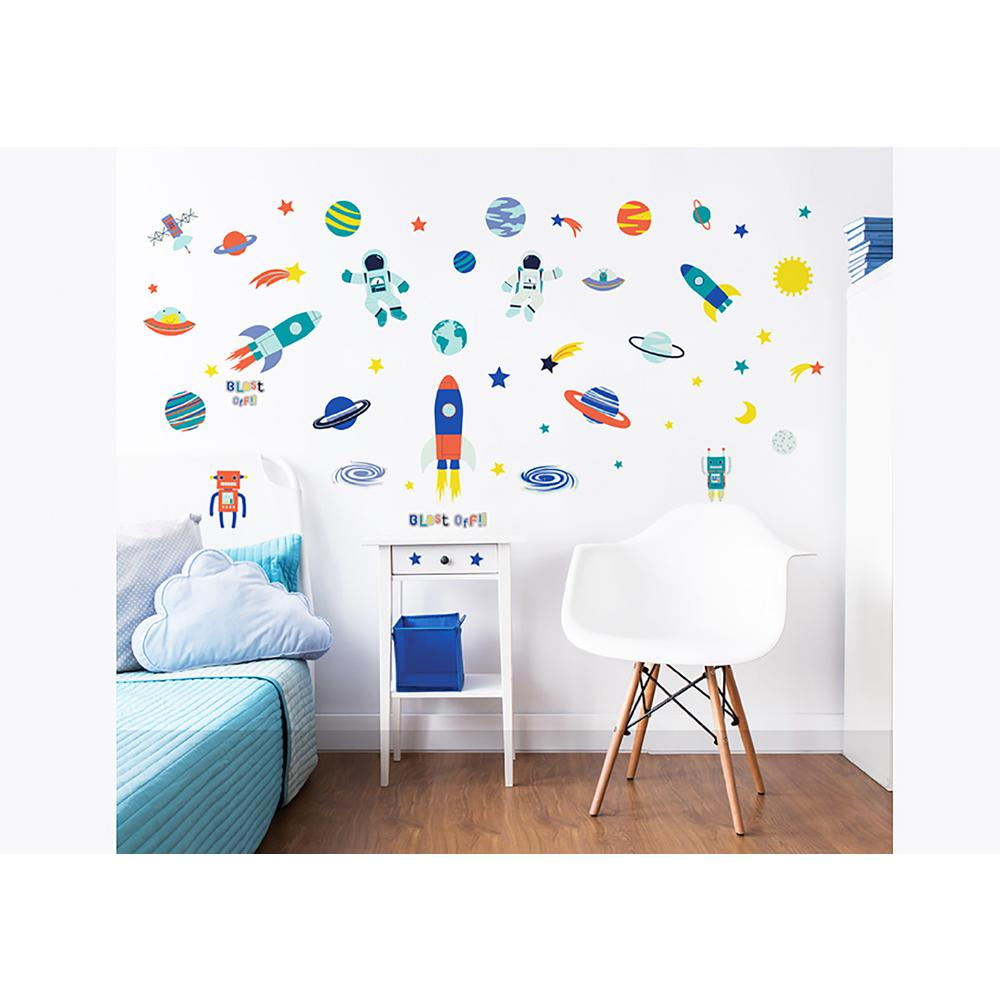 Walltastic Multi Color Outer Space Wall Stickers