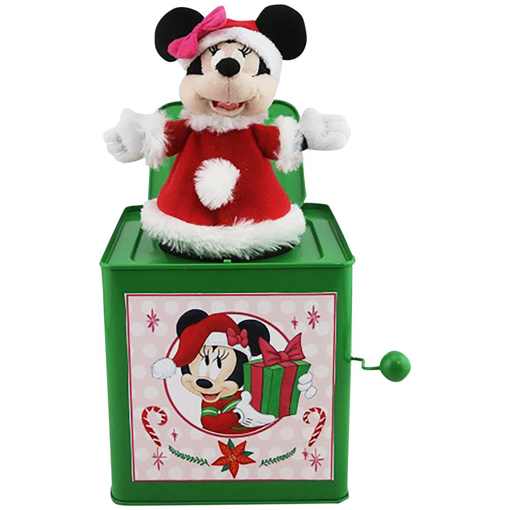 10.63 in. Jack in the Box Minnie in Santa Outfit-112629 - The Home Depot