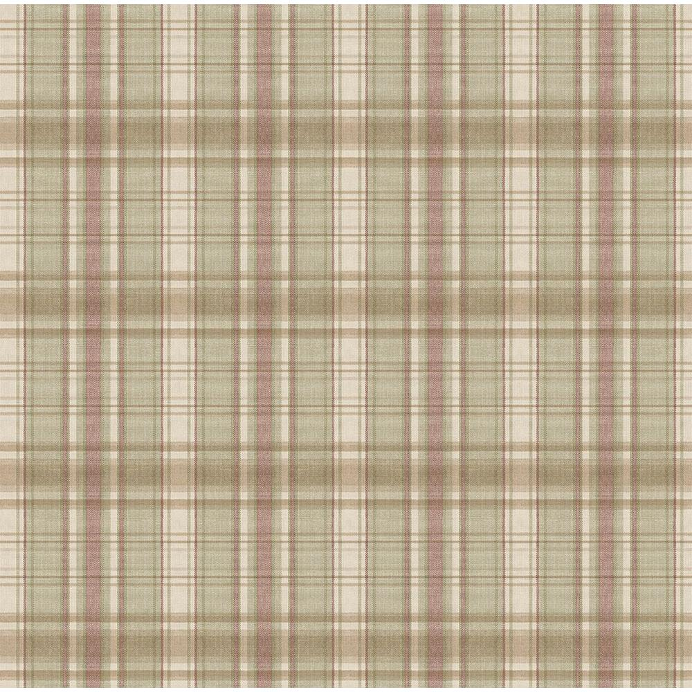 Chesapeake Sunny Sage Plaid Wallpaper Ccb130418 The Home