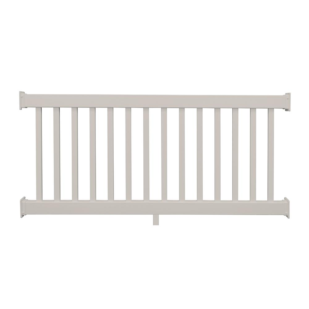Naples 36 in. x 96 in. Tan Vinyl Straight Railing Kit