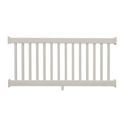 Naples 3 ft. H x 8 ft. W Tan Vinyl Railing Kit