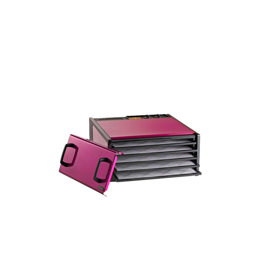 Excalibur Deluxe Powder Coated 5 Tray Food Dehydrator in Radiant Raspberry