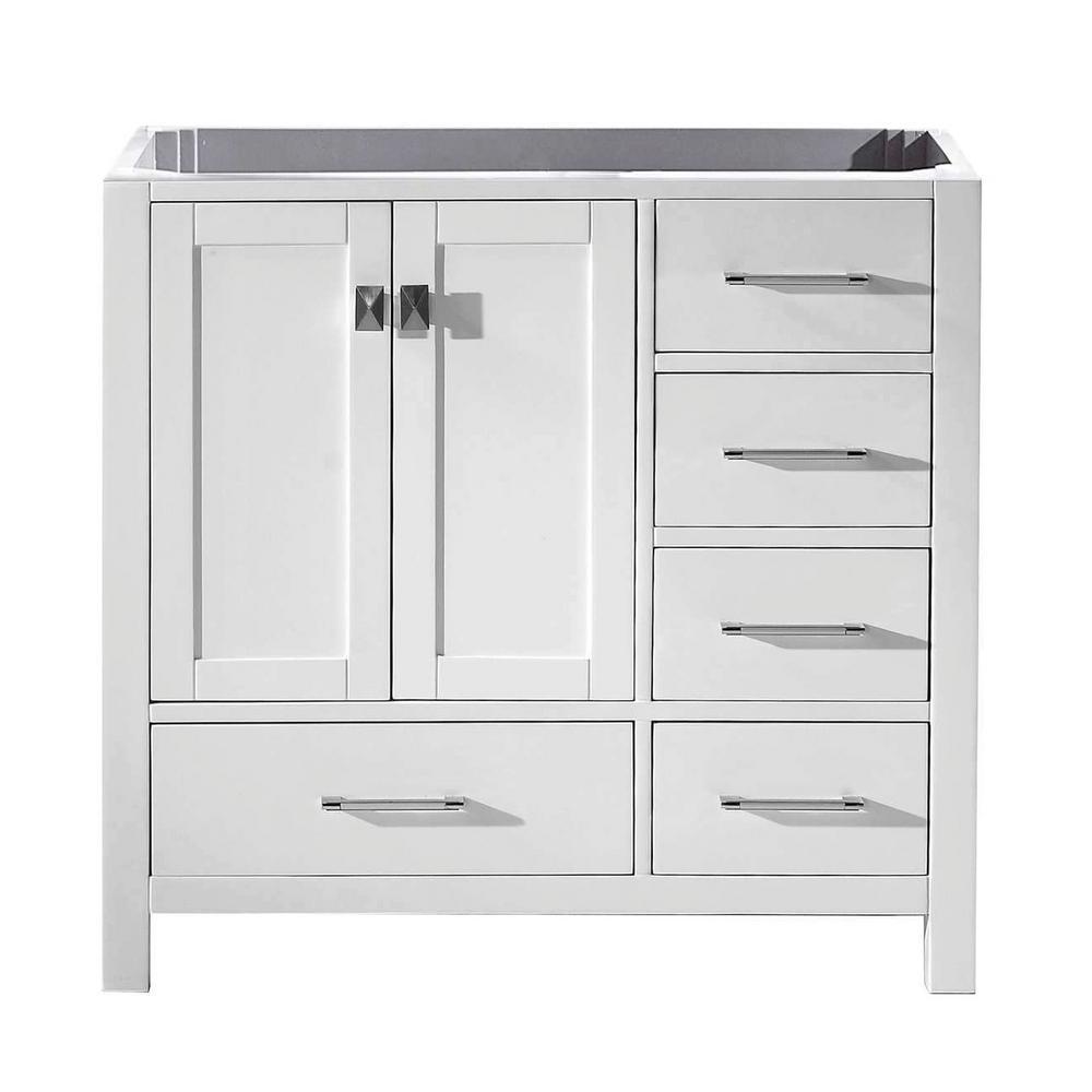 Caroline Avenue 36 in. W Bath Vanity Cabinet Only in White