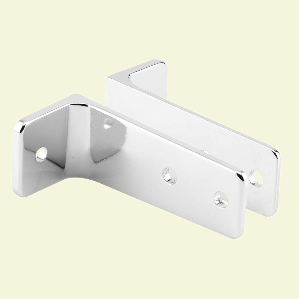 Prime-Line 3-1/2 in. Long Chrome 2 Piece Wall Bracket