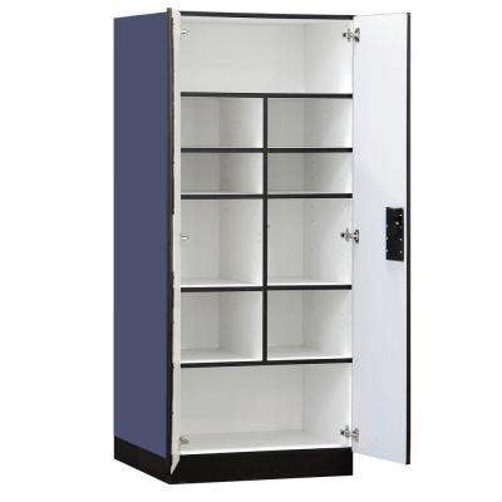 32 in. W x 76 in. H x 24 in. D Standard Wood Designer Storage Cabinet Assembled in Blue