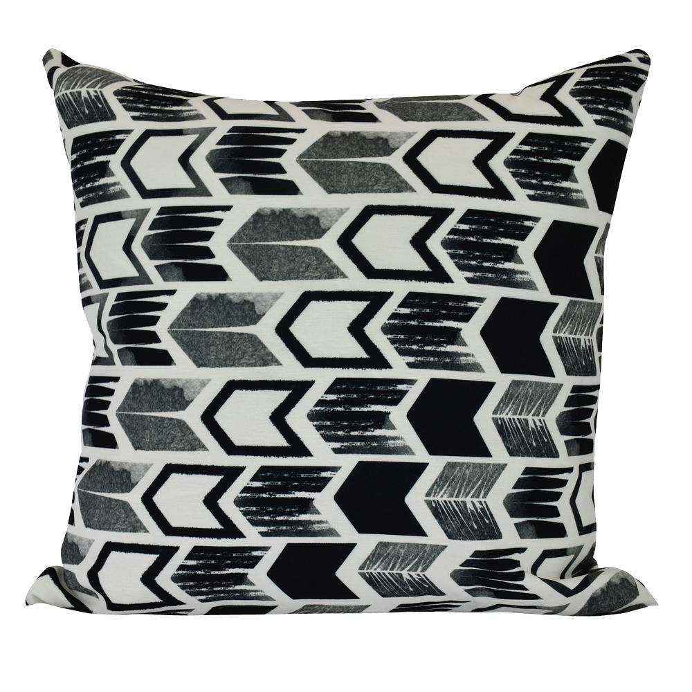 26 in. Arrow Geometric Print Decorative Pillow