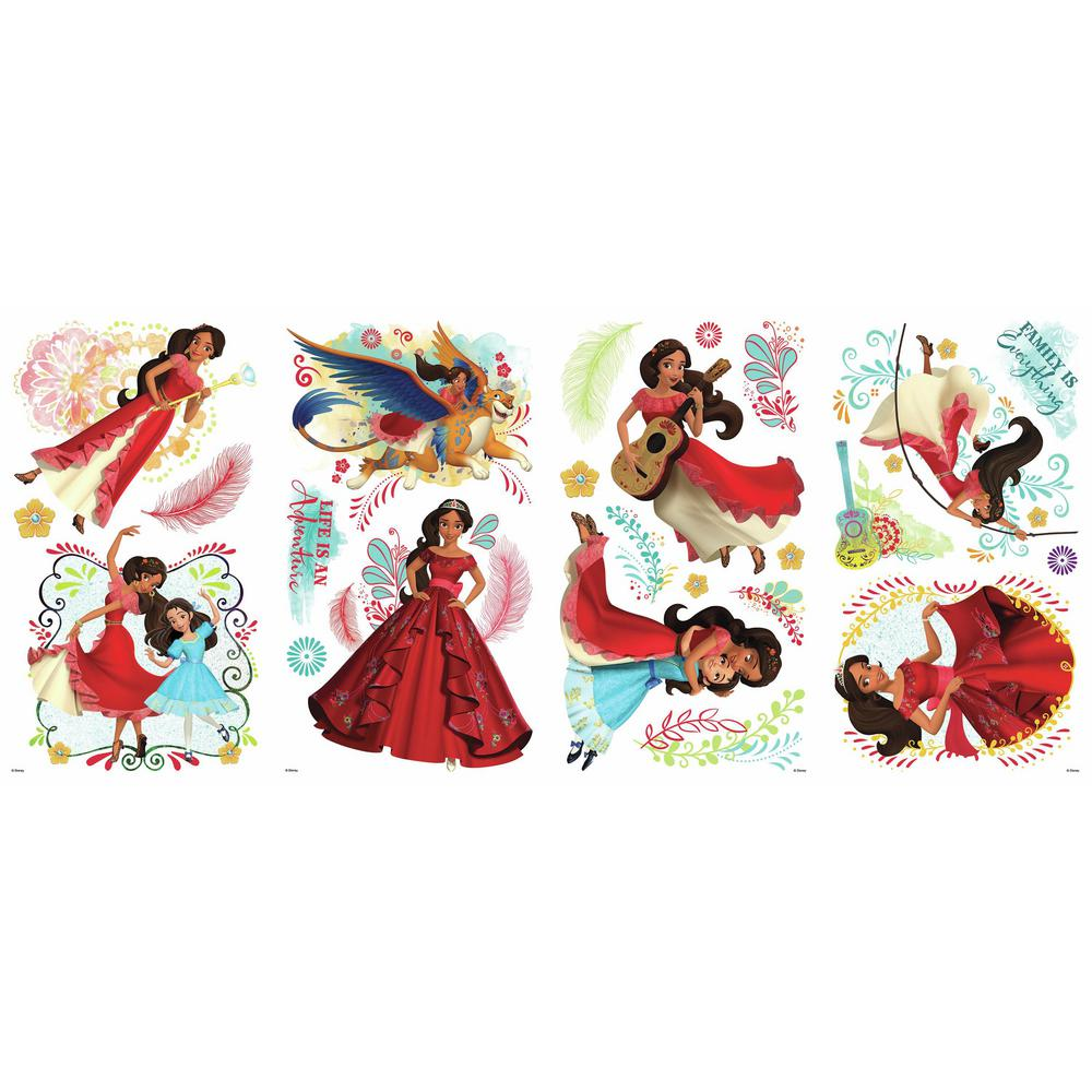 Roommates 5 in x 115 in princess elena of avalor 24 piece peel princess elena of avalor 24 piece peel and stick wall decals rmk3294scs the home depot amipublicfo Gallery