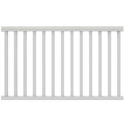 Traditional 6 ft. x 36 in. White PolyComposite Pre-Built Rail Kit without Brackets