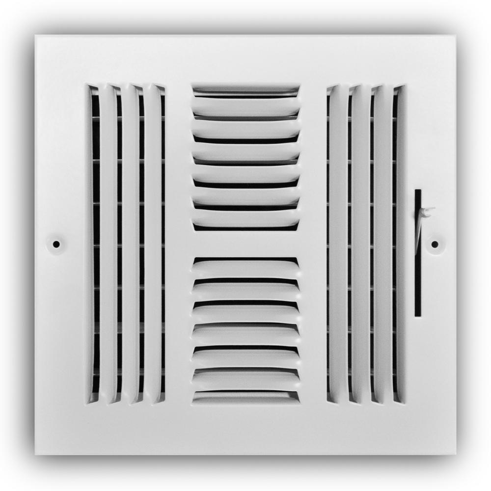 8 in. x 8 in. 4-Way Wall/Ceiling Register