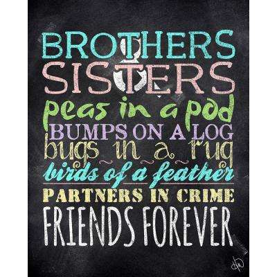 "16 in. x 20 in. ""Brothers and Sisters"" Wrapped Canvas Wall Art Print"