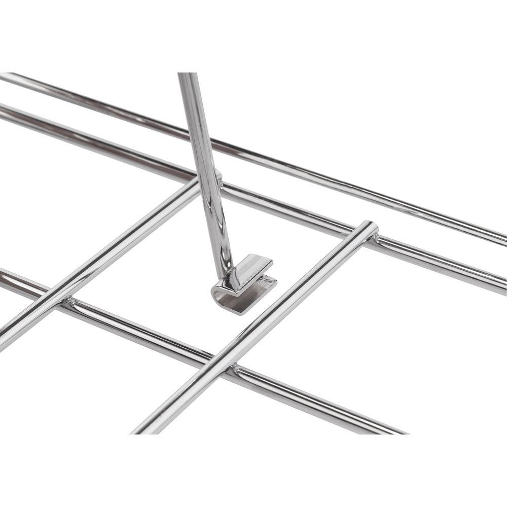 TRINITY-20 in. Deep Steel Sliding Pot Organizer in Chrome