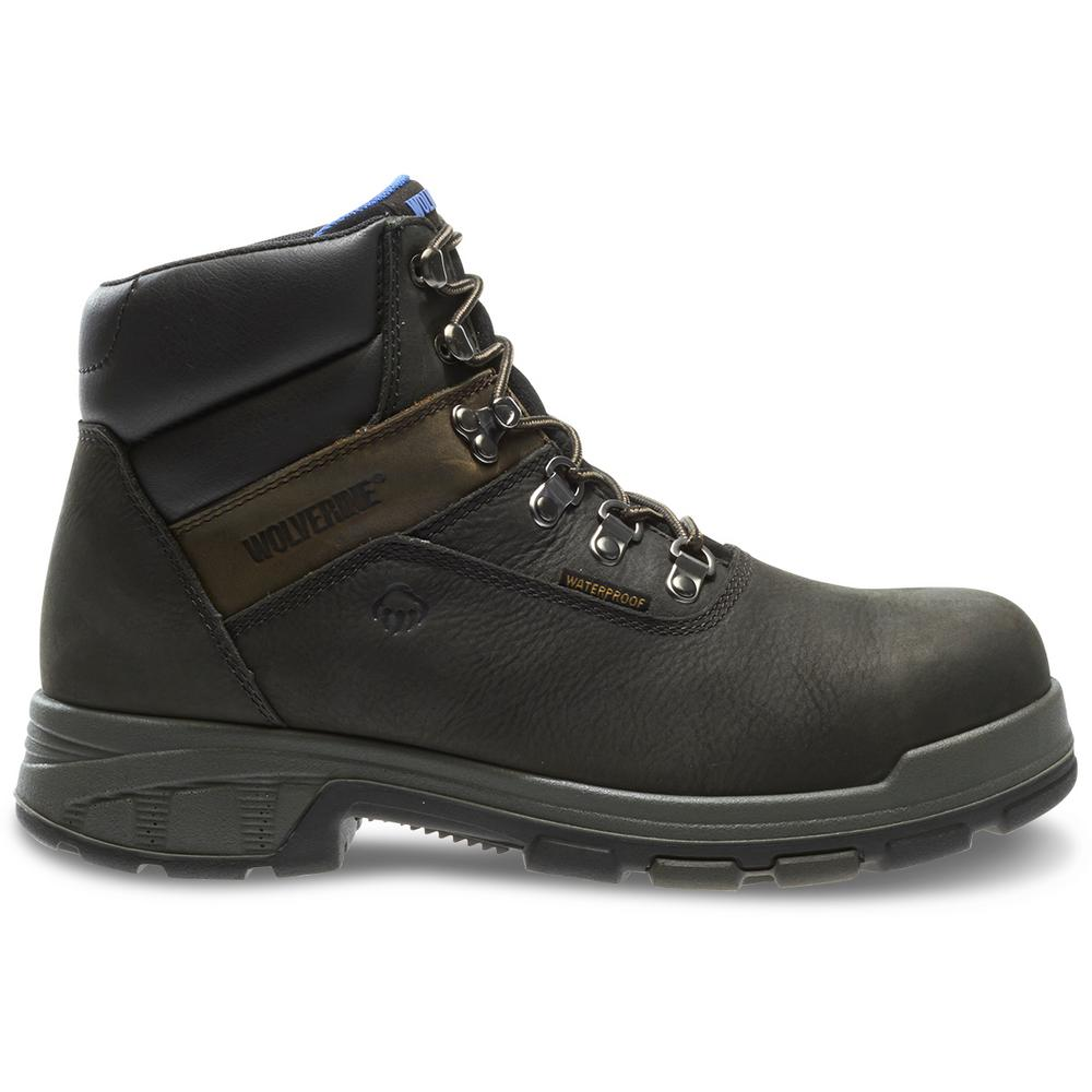 d1a34b14ada Wolverine Men's Cabor Size 8.5M Black Nubuck Leather Waterproof Composite  Toe 6 in. Boot